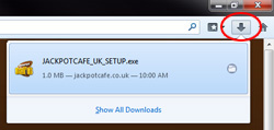 jackpot cafe download instructions step 1