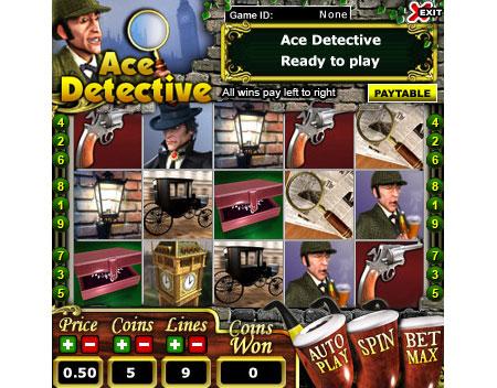 jackpot cafe ace detective 5 reel online slots game