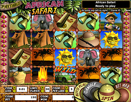 jackpot cafe african safari 5 reel online slots game