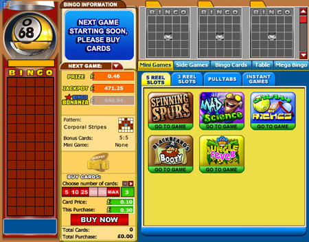 jackpot cafe 75 ball online bingo game