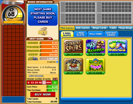jackpot cafe 90 ball online bingo game