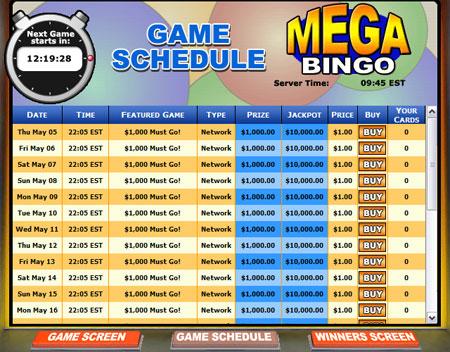 jackpot cafe mega bingo network online bingo game