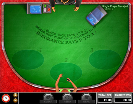 jackpot cafe single player blackjack online casino game