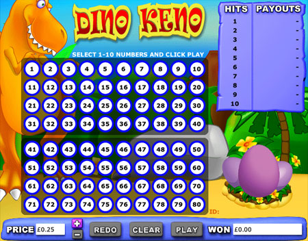 jackpot cafe dino keno online casino game