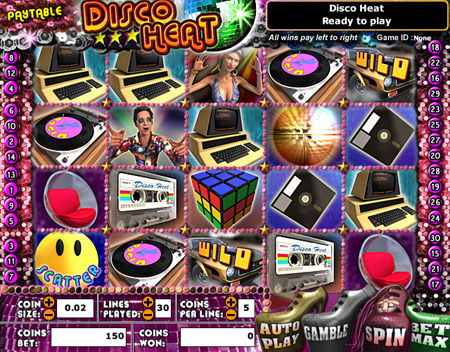 jackpot cafe disco heat 5 reel online slots game