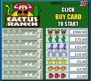 jackpot cafe cactus ranch pull tabs online instant win game