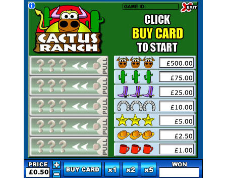 jackpot cafe cactus ranch online instant win game