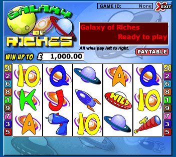 jackpot cafe galaxy of riches 5 reel online slots game