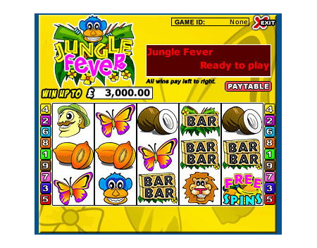 jackpot cafe jungle fever 5 reel online slots game