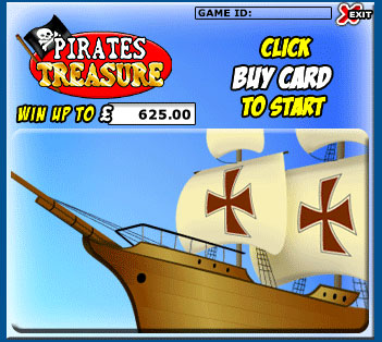 jackpot cafe pirates treasure scratch cards online instant win game
