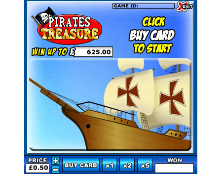 jackpot cafe pirates treasure online instant win game