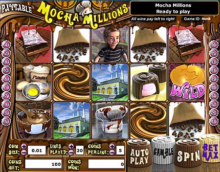 jackpot cafe mocha millions 5 reel online slots game