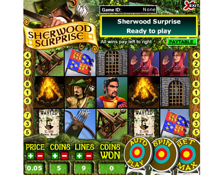 jackpot cafe sherwood surprise 5 reel online slots game