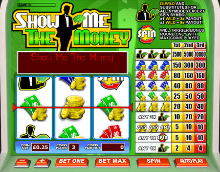 jackpot cafe show me the money 3 reel online slots game
