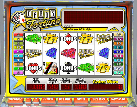 jackpot cafe cards of fortune 5 reel online slots game