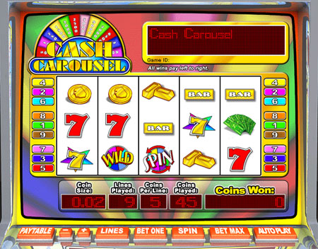 jackpot cafe cash carousel 5 reel online slots game