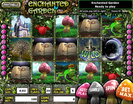 jackpot cafe enchanted garden 5 reel online slots game