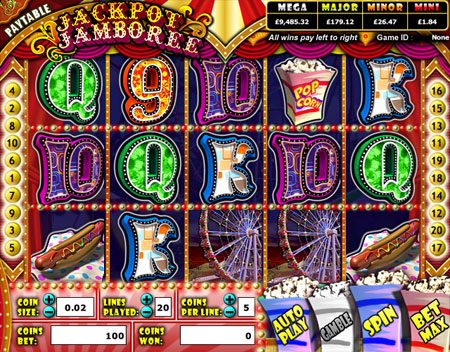 jackpot cafe jackpot jamboree 5 reel online slots game