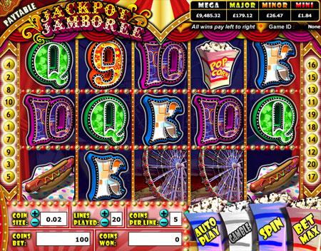 jackpot cafe jackpot jamboree 5 reel online slots game