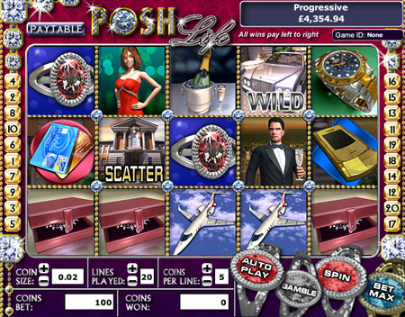 jackpot cafe posh life 5 reel online slots game
