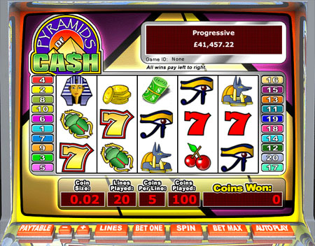 jackpot cafe pyramids of cash 5 reel online slots game